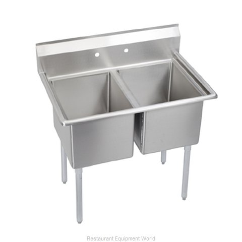 Elkay E2C16X20-0X Sink, (2) Two Compartment