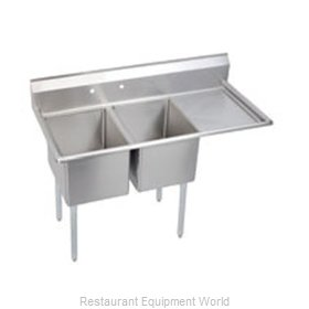 Elkay E2C16X20-R-18X Sink, (2) Two Compartment