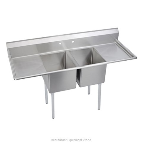 Elkay E2C20X20-2-20X Sink 2 Two Compartment
