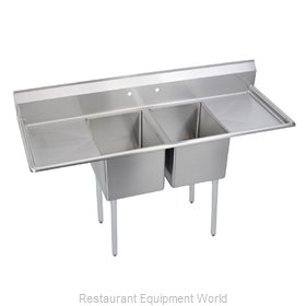 Elkay E2C20X20-2-20X Sink, (2) Two Compartment