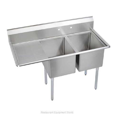Elkay E2C24X24-L-24X Sink, (2) Two Compartment