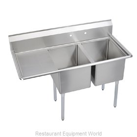 Elkay E2C24X24-L-24X Sink 2 Two Compartment