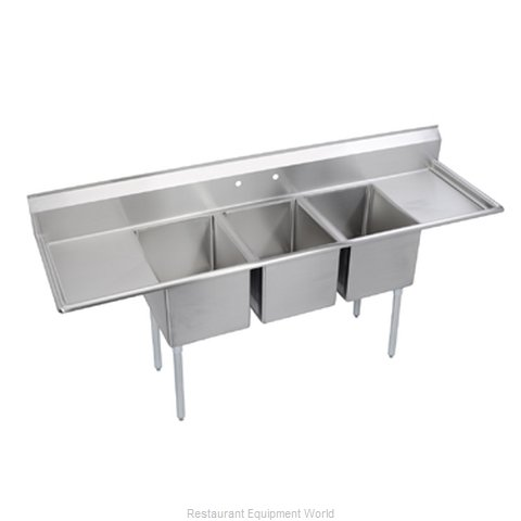 Elkay E3C20X20-2-20X Sink, (3) Three Compartment (Magnified)
