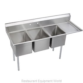 Elkay E3C20X20-R-20X Sink, (3) Three Compartment