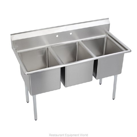 Elkay E3C24X24-0X Sink, (3) Three Compartment