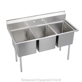Elkay E3C24X24-0X Sink 3 Three Compartment