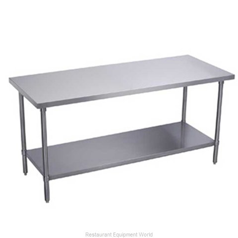 Elkay EWT24S96-STG-4X Work Table 96 Long Stainless steel Top (Magnified)