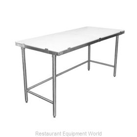 Elkay PT24X120-STS Work Table, Poly Top