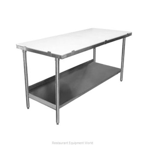 Elkay PT36S48-STS Work Table Poly Top