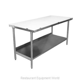 Elkay PT36S48-STS Work Table, Poly Top