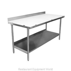 Elkay PT36S72-BS Work Table, Poly Top