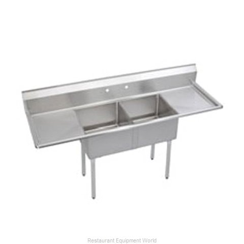 Elkay S2C18X18-2-18X Sink 2 Two Compartment