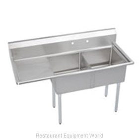 Elkay S2C18X18-L-18X Sink 2 Two Compartment