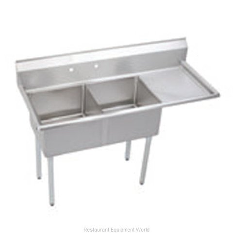 Elkay S2C18X18-R-18X Sink, (2) Two Compartment