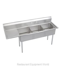 Elkay S3C18X18-L-18X Sink, (3) Three Compartment