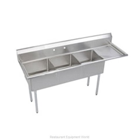 Elkay S3C18X18-R-18X Sink 3 Three Compartment