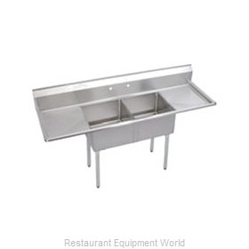Elkay SE2C18X18-2-18X Sink, (2) Two Compartment