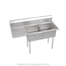 Elkay SE2C18X18-L-18X Sink 2 Two Compartment
