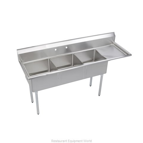 Elkay SE3C18X18-R-18X Sink, (3) Three Compartment (Magnified)