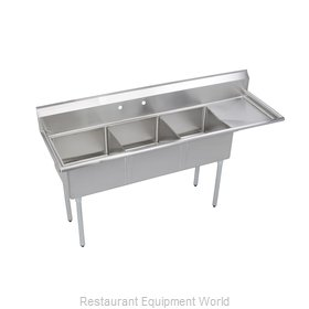 Elkay SE3C18X18-R-18X Sink 3 Three Compartment