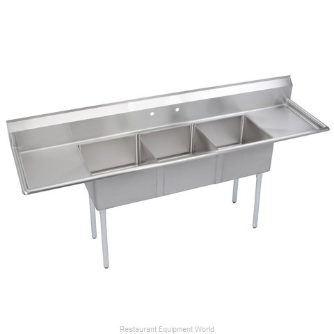Elkay SE3C24X24-2-24X Sink 3 Three Compartment