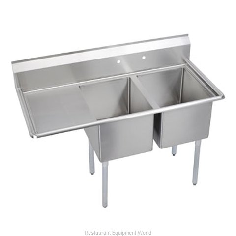 Elkay SL2C18X24-L-18 Sink, (2) Two Compartment (Magnified)