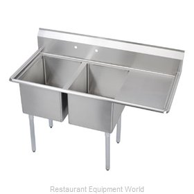 Elkay SL2C24X24-R-24 Sink, (2) Two Compartment