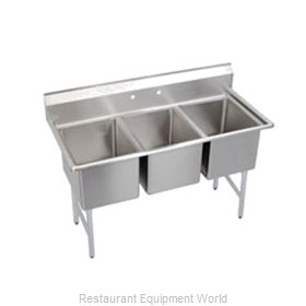 Elkay SL3C10X14-0 Sink, (3) Three Compartment