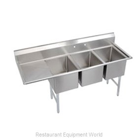Elkay SL3C10X14-L-12 Sink, (3) Three Compartment