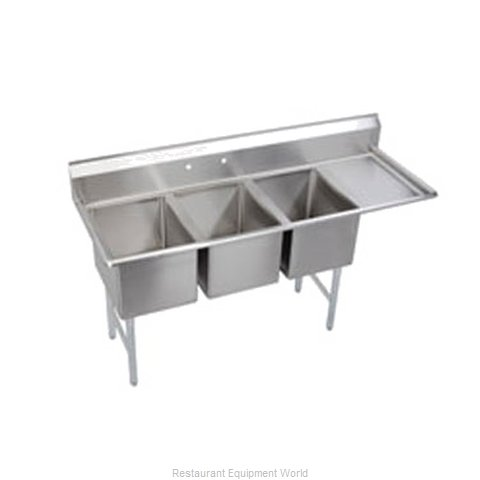 Elkay SL3C10X14-R-16 Sink 3 Three Compartment