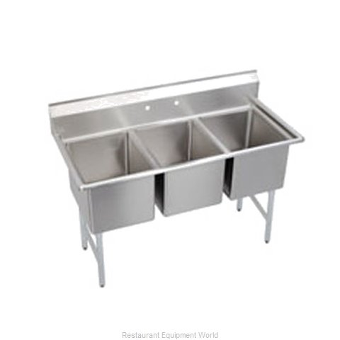 Elkay SL3C12X16-0 Sink 3 Three Compartment (Magnified)