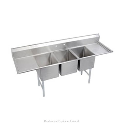 Elkay SL3C12X16-2-12 Sink, (3) Three Compartment (Magnified)