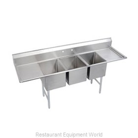 Elkay SL3C12X16-2-12 Sink, (3) Three Compartment