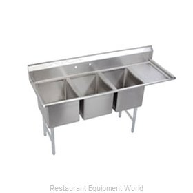 Elkay SL3C12X16-R-12 Sink, (3) Three Compartment