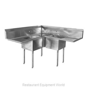 Elkay SL3C1818-2-18-L Sink, (3) Three Compartment