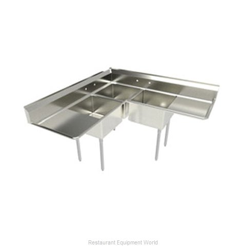 Elkay SL3C24X24-2-24-L Sink 3 Three Compartment