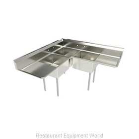 Elkay SL3C24X24-2-24-L Sink, (3) Three Compartment