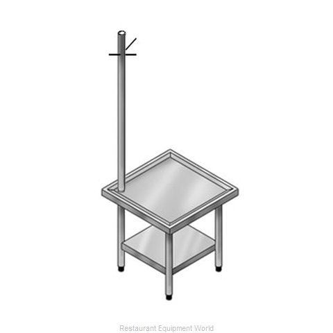 Elkay SLUTMS30S36-STG Equipment Stand, for Mixer / Slicer (Magnified)