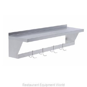 Elkay SLW-S-48X Overshelf, Wall-Mounted With Pot Rack