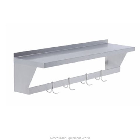Elkay SLW-S-96 Overshelf, Wall-Mounted With Pot Rack