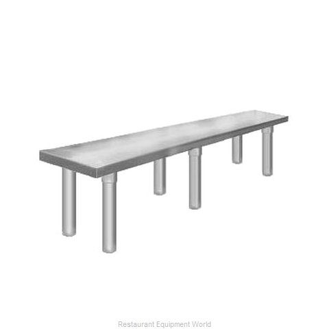 Elkay TMS-1-10-36 Overshelf, Table-Mounted (Magnified)