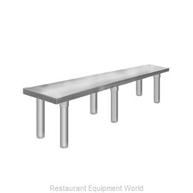 Elkay TMS-1-12-60 Overshelf, Table-Mounted