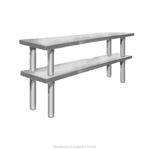 Elkay TMS-2-18-72 Overshelf, Table-Mounted (Magnified)
