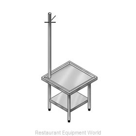 Elkay UTMS24S24-STS Equipment Stand, for Mixer / Slicer