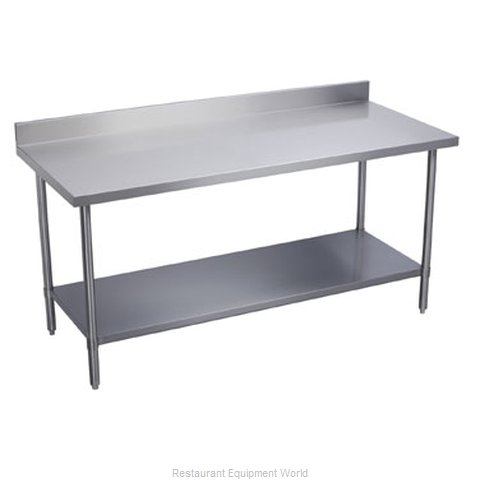 Elkay WT24S120-BSX Work Table 120 Long Stainless steel Top (Magnified)