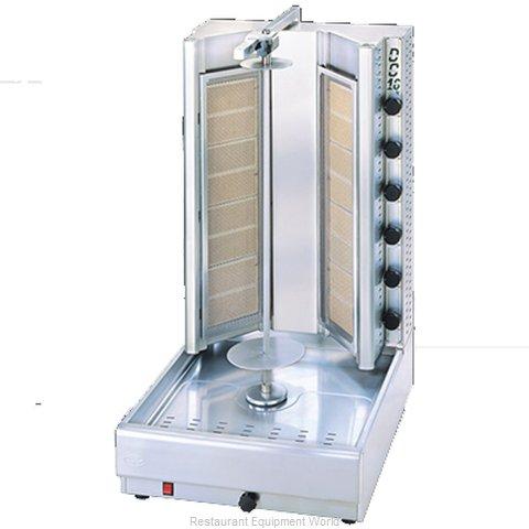 Eurodib DG16V Vertical Broiler (Gyro), Gas