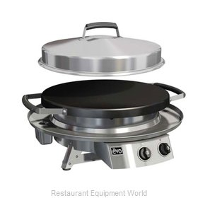 EVO 10-0020-NG Round Griddle / Fry Top, Gas