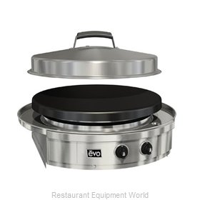 EVO 10-0054-LP Round Griddle / Fry Top, Gas