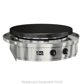 EVO 10-0070-NG Round Griddle / Fry Top, Gas