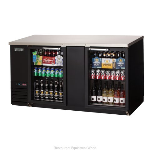 Everest Refrigeration EBB69G-24 Back Bar Cabinet, Refrigerated